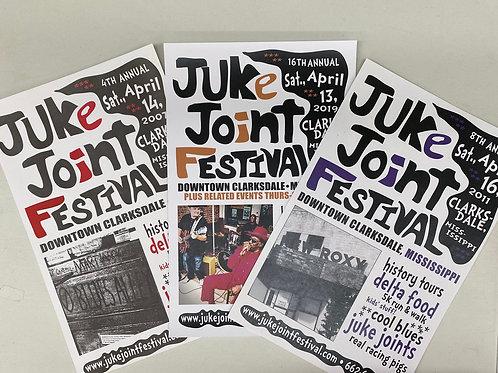 JJFest 2004-2017 Club Posters
