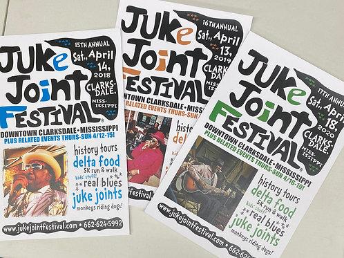 JJFest 2018-2020 Club Posters