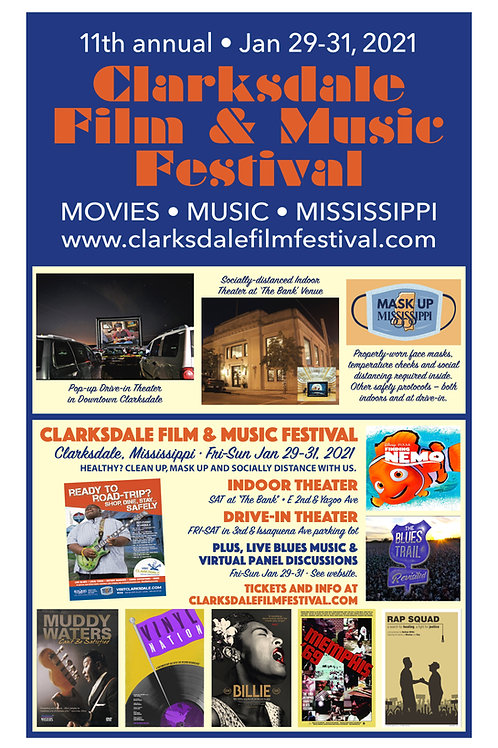 2021 Clarksdale Film & Music Poster