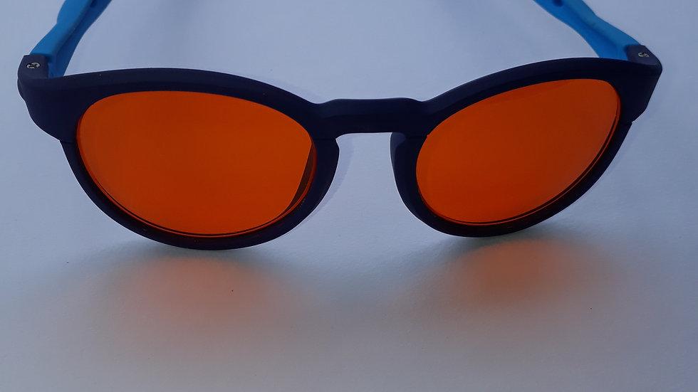 infantil redondo azul claro e azul escuro (maleável, de silicone)