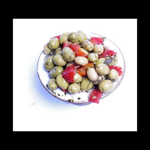 Olive verte cassée à la boufarik (500g calibre 19/21)