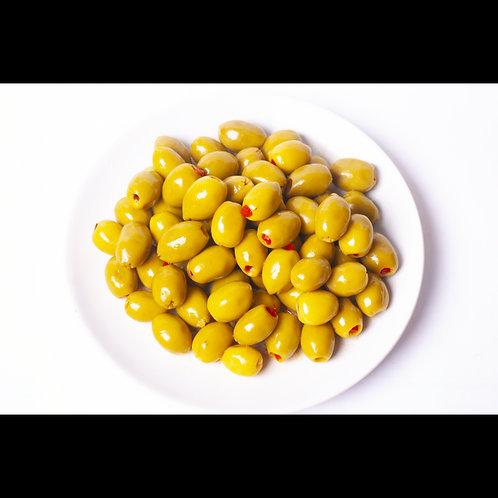 Olive verte farcie aux poivrons (500g)