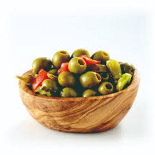 Olive verte denoyautée pimentée (500g)
