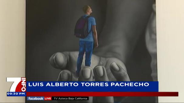 2021: Reportage Scintille exhibition - BA Karla González from TV Azteca Baja California