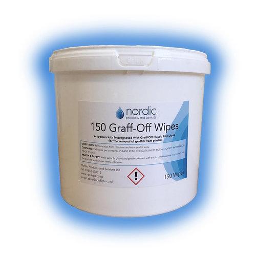 Graff-off wipes 150