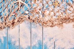 fishnet  on boardwalk