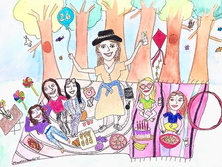An epic picnic for my sister — with live doodling