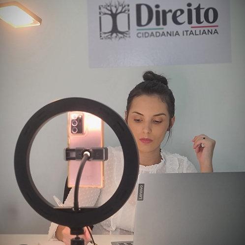 1 Hora de consultoria personalizada e especializada em cidadania italiana
