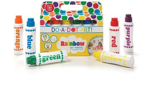 Do A Dot Art! Markers 6-Pack Rainbow Washable Paint Markers, The Original Dot Ma