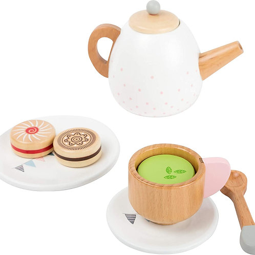 small foot wooden toys Play Tea Party 17 Piece Set Designed for Children Ages 3
