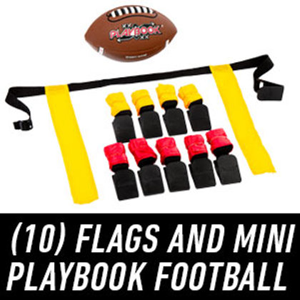 Franklin Sports Flag Football Flags and Ball Set - Flag Football Belts and Footb