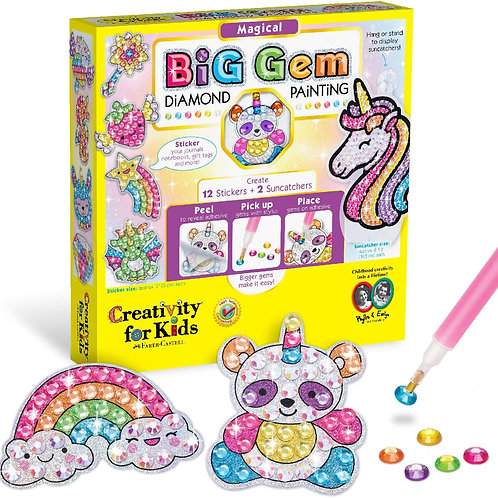 Creativity for Kids Big Gem Diamond Painting Kit - Create Your Own Magical Stic