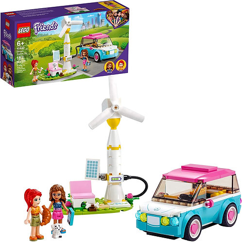 LEGO Friends Olivia's Electric Car 41443 Building Kit; Creative Gift for Kids;