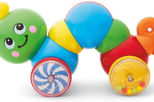 Kidoozie Press N Go Inchworm - Developmental Toy for Toddlers and Preschool Age