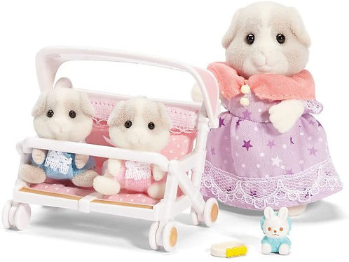 Calico Critters Patty & Paden's Double Stroller