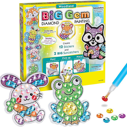 Creativity for Kids Big Gem Diamond Painting Kit - Create Your Own Woodland For