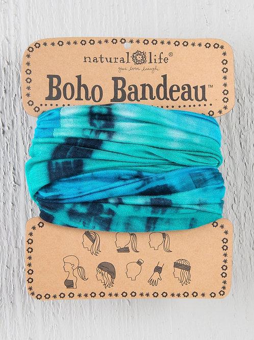 TURQUOISE & BLUE TIE-DYE BOHO BANDEAU®