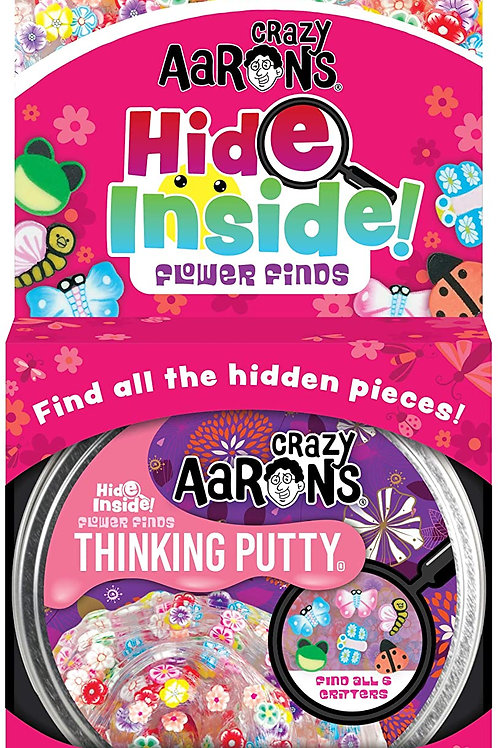 Crazy Aaron's Hide Inside Thinking Putty - Flower Finds (3.2 Ounces) - Search fo