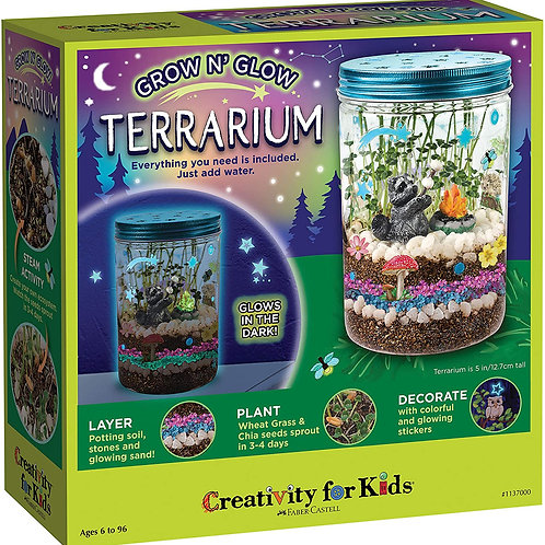 Creativity for Kids Grow 'N Glow Terrarium Kit for Kids - Science Activities for