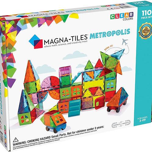 Magna Tiles Metropolis Set, The Original Magnetic Building Tiles for Creative Op