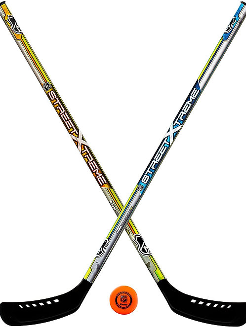 Franklin Sports Youth Street Hockey Set - Includes 2 Street Hockey Sticks and 1