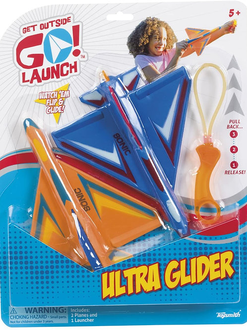 Toysmith Ultra Glider Stunt Flyer, Launch, Set of 2