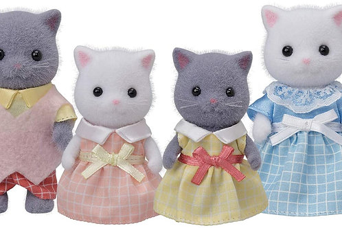 Calico Critters, Persian Cat Family, Dolls, Dollhouse Figures, Collectible Toys,