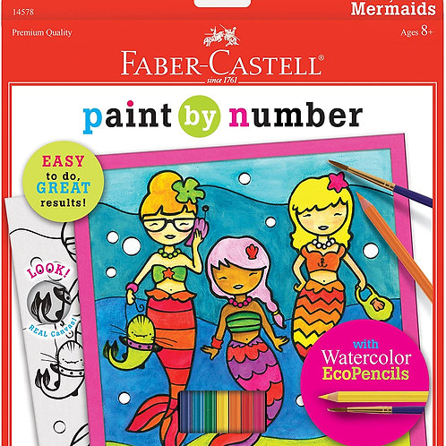 Faber-Castell - Paint by Number Mermaids , Mermaids - Watercolor Paint