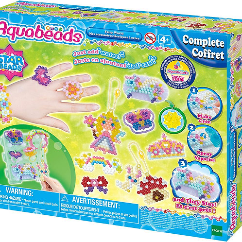 Aquabeads Fairy World Complete Arts & Crafts Bead Kit for Childrens - over 800 b