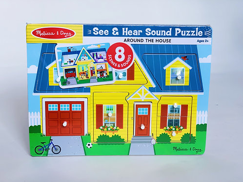 Around the House See and Hear Sound Puzzle