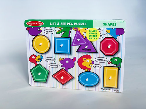 Shapes Lift and See Peg Puzzle