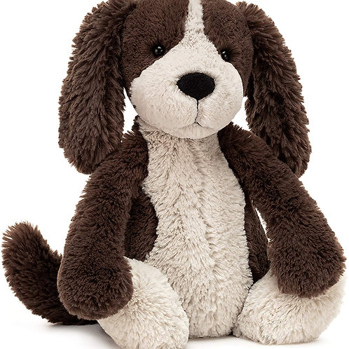 Jellycat Bashful Fudge Puppy Dog Stuffed Animal, Medium