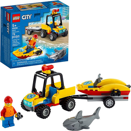 LEGO City Beach Rescue ATV 60286 Building Kit; Fun Cool Toy for Kids, New 2021
