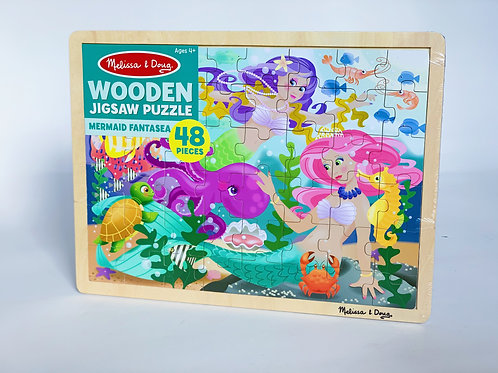 Mermaid Fantasy Wooden Puzzle