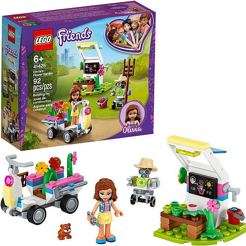 LEGO Friends Olivia's Flower Garden 41425 Building Toy for Kids; This Play Garde