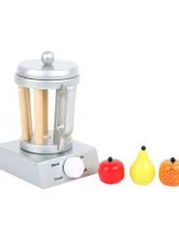 small foot wooden toys Wooden Blender Set Includes Fruit for Play Kitchens Desig