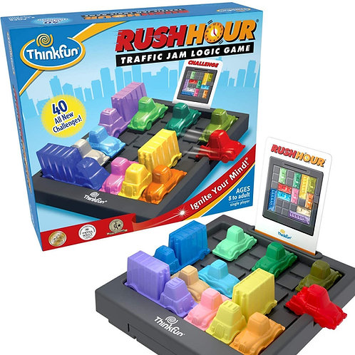 Rush Hour Traffic Jam Logic Game and STEM Toy for Boys and Girls Age 8 and Up -