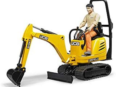 Bruder Toys - Construction Realistic JCB Micro Excavator 8010 CTS and Bworld Con