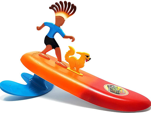 Surfer, Pet and Surfboard Beach Toy - Waikiki Woodie and Curl