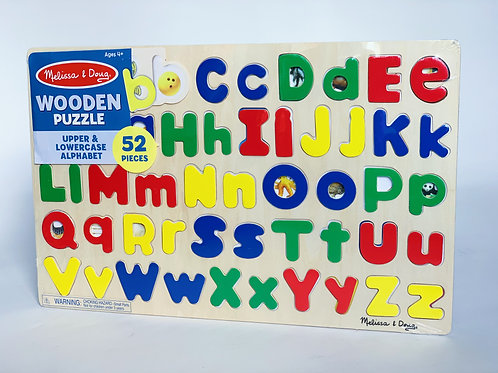 Upper and Lowercase Wooden Alphabet