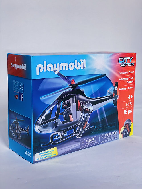 Tactical Unit Copter Playmobil City Action