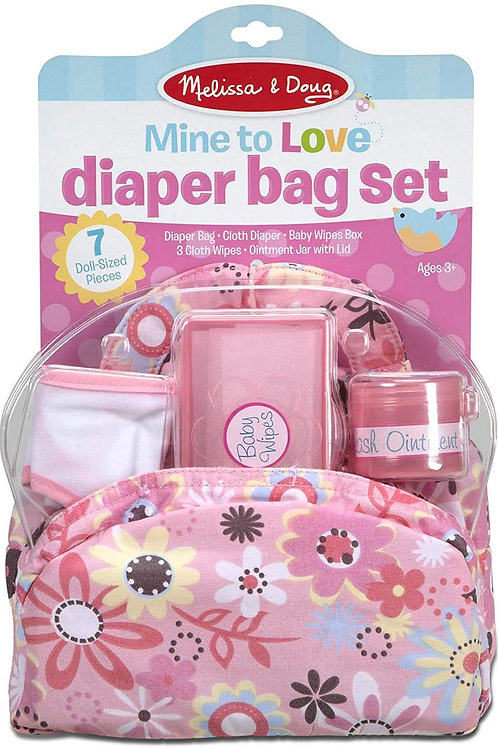 Melissa & Doug Mine to Love Doll Diaper Changing Set With Accessories (7 pcs)