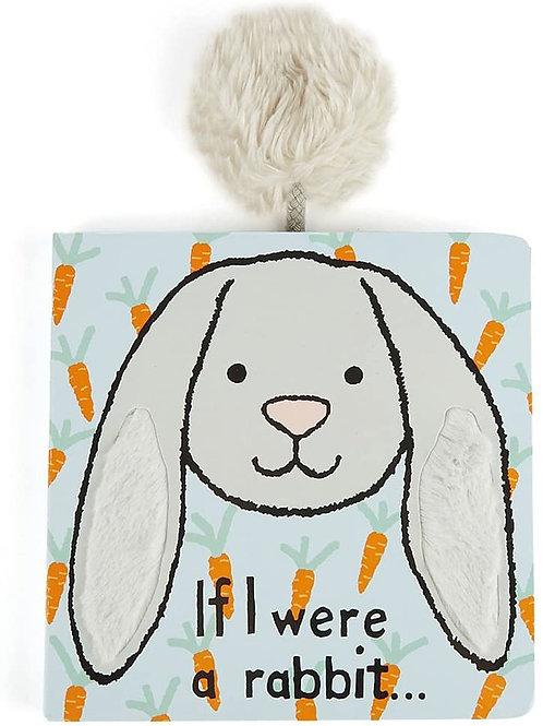 Jellycat If I were a Rabbit Board Book, Grey