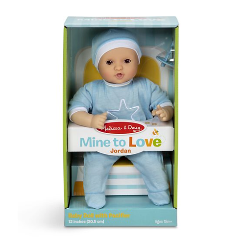 Mine to Love Jordan 12-Inch Baby Doll- Melissa Doug