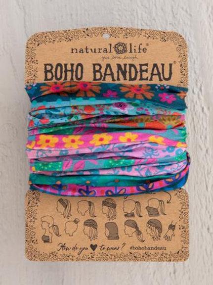 BLUE PINK BORDERS BOHO BANDEAU®