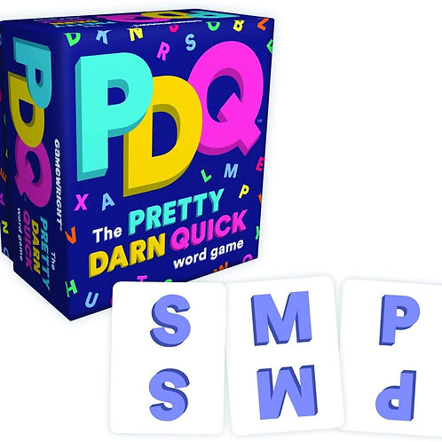 Gamewright PDQ - The Pretty Darn Quick Word Game Card Game Multi-colored