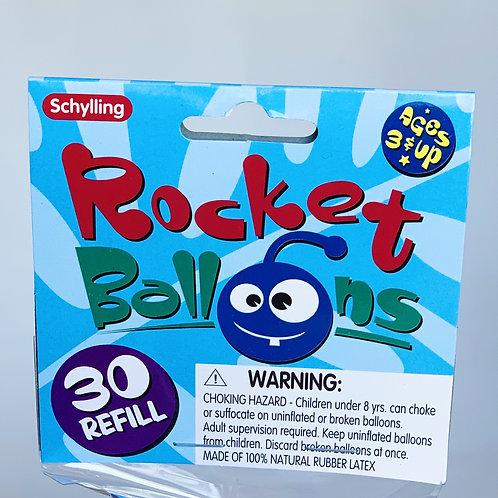 Rocket Balloons Refill 30 Pack
