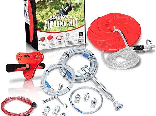 Slackers 90 ft Eagle Series Zipline - Kids Zip line Kit with Safety Zipspring Br