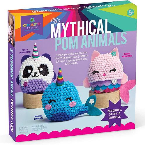Craft-tastic – DIY Mythical Pom Animals – Craft Kit Makes 3 Pompom Stuffed Anima