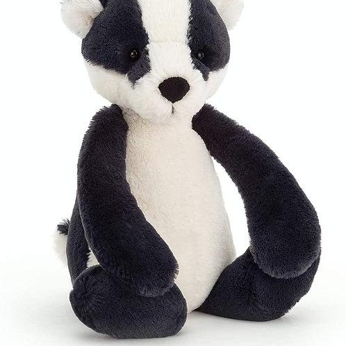 Jellycat Bashful Badger Stuffed Animal, Medium
